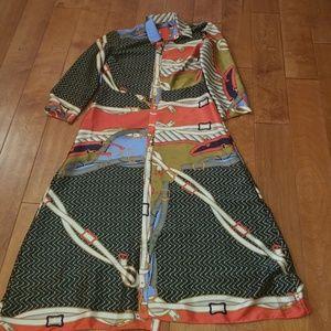 Zara scarf print dress
